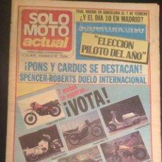 Coches y Motocicletas: REVISTA PERIODICO SOLO MOTO ACTUAL DE 1983 Nº 410 RIEJU STRADA 75 DERBI SPORT COPPA 74. Lote 48307843