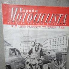 Coches y Motocicletas: ESPAÑA MOTOCICLISTA NUMERO 35 SEPTIEMBRE 1954. Lote 48556082