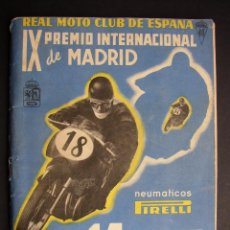 Coches y Motocicletas: CATALOGO MOTOCICLISMO REAL MOTO CLUB DE ESPAÑA - IX PREMIO INTERNACIONAL DE MADRID - 1953. Lote 48583297