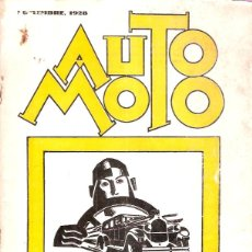 Coches y Motocicletas: REVISTA AUTO MOTO SEPTIEMBRE 1928 REPORTAJE FOTOGRAFICO CAMPEONATO MOTOCICLISTA PENYA RHIN. Lote 48775898