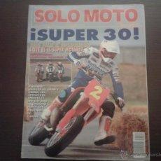 Coches y Motocicletas: SOLO MOTO NOVIEMBRE´89 DERBI - HONDA - APRILIA - YAMAHA - BMW - TRIUMPH - NORTON - HARLEY DAVIDSON. Lote 48783665