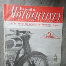 Coches y Motocicletas: REVISTA ESPAÑA MOTOCICLISTA NUMERO 37 SEPTIEMBRE 1954. Lote 48885060