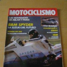 Coches y Motocicletas: MOTOCICLISMO - NUM. 1135 - AÑO 1989 - SUZUKI BRM SPIDER - HONDA NX 250 . Lote 48967552