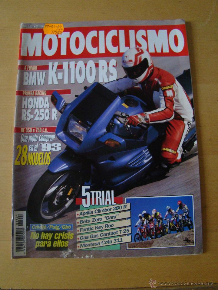 MOTOCICLISMO - NUM. 1301 - AÑO 1993 - BMW K-1100 RS - HONDA RS-250 R (Coches y Motocicletas - Revistas de Motos y Motocicletas)