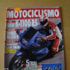 Coches y Motocicletas: MOTOCICLISMO - NUM. 1301 - AÑO 1993 - BMW K-1100 RS - HONDA RS-250 R. Lote 49031787