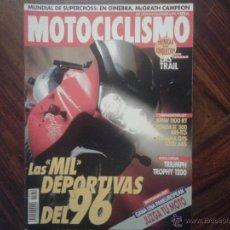 Coches y Motocicletas: MOTOCICLISMO DIC´95 BMW 1100 RT. HONDA PANEUROPEAN. YAMAHA GTS. TRIUMPH TROPHY. GILERA XR2. PGO. Lote 49034138
