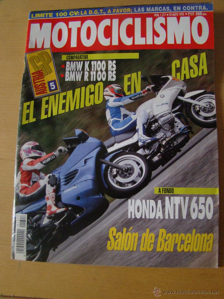 MOTOCICLISMO - NUM. 1317 - AÑO 1993 - BMW K 1100 RS - BMW R 1100 RS - HONDA NTV 650 (Coches y Motocicletas - Revistas de Motos y Motocicletas)