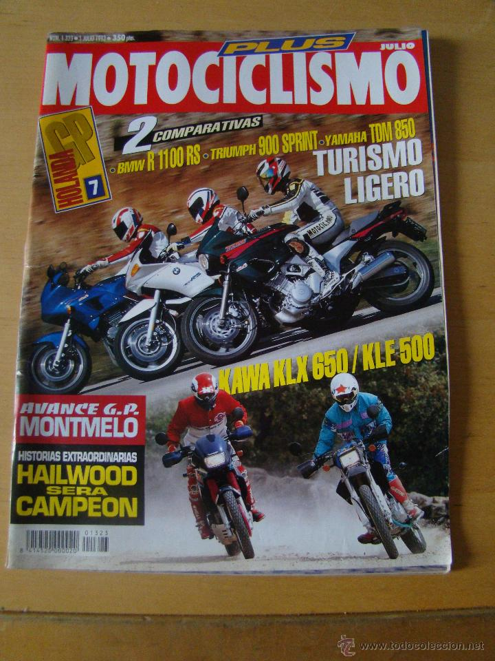 MOTOCICLISMO - NUM. 1323 - AÑO 1993 - BMW R 1100 - TRIUMPH 900 SPRINT - YAMAHA TDM 850 (Coches y Motocicletas - Revistas de Motos y Motocicletas)
