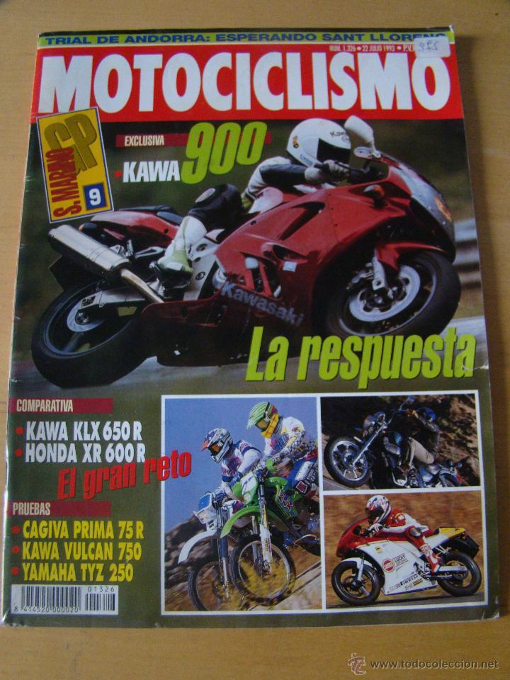 MOTOCICLISMO - NUM. 1326 - AÑO 1993 - KAWA 900 - KAWA KLX 650 R - HONDA XR 600 R (Coches y Motocicletas - Revistas de Motos y Motocicletas)