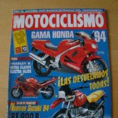 Coches y Motocicletas: MOTOCICLISMO - NUM. 1334 - AÑO 1993 - GAMA HONDA 94'. Lote 49072217