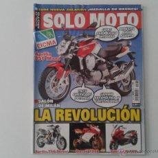 Coches y Motocicletas: SOLO MOTO NOV´06 APRILIA 850 MANA, APRILIA 750 SHIVER, DUCATI 1098, GILERA GP 800, PEUGEOT SATELIS. Lote 49152803