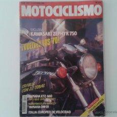 Coches y Motocicletas: MOTOCICLISMO OCT´90 KAWASAKI ZEPHYR, YAMAHA XTZ TENERE, DNEPR SIDECAR, HONDA RS, YAMAHA OW 01. Lote 49295914
