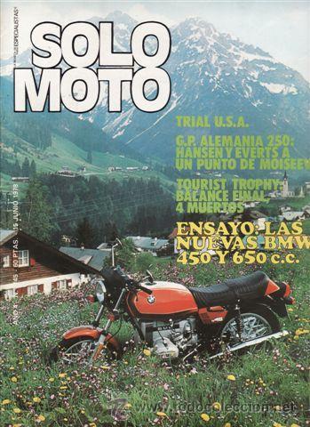 REVISTA SOLO MOTO ACTUAL Nº 145 AÑO 1978. PRUEBA: BENELLI 350 RS. NUEVAS BMW. (Coches y Motocicletas - Revistas de Motos y Motocicletas)