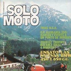 Coches y Motocicletas: REVISTA SOLO MOTO ACTUAL Nº 145 AÑO 1978. PRUEBA: BENELLI 350 RS. NUEVAS BMW. . Lote 49522773