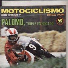 Coches y Motocicletas: REVISTA MOTOCICLISMO 2ª QUINCENA MAYO 1975. PRUEBA: MOTO GUZZI 1000 CONVERT. KAWASAKI KZ 400. . Lote 49615388