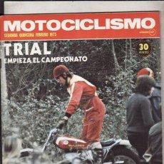 Coches y Motocicletas: REVISTA MOTOCICLISMO Nº 2ª QUINCENA FEBRERO AÑO 1975. PRUEBA: OSSA SUPER PIONNER 250. . Lote 49615965