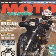 Coches y Motocicletas: REVISTA MOTO VERDE Nº 204 AÑO 1995. COMP: KAWASAKI KLR 650, KAWASAKI KLX 650, SUZUIKI DR 650 RE. Lote 128715731