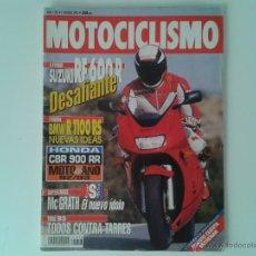 Coches y Motocicletas: MOTOCICLISMO FEBRERO´93 SUZUKI RF 600 R - BMW R 1100 RS - HONDA CBR 900 - TRIUMPH TRIDENT 900 -. Lote 49969848