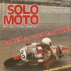 Coches y Motocicletas: REVISTA SOLO MOTO Nº 81 BENELLI 350 RS. Lote 50291589