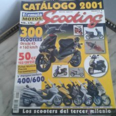 Coches y Motocicletas: CATALOGO SCOOTING 2001 DERBI, PGO, SUZUKI, YAMAHA, ITALJET, PIAGGIO, VESPA, KYMCO, APRILIA, BMW, MBK. Lote 50294984