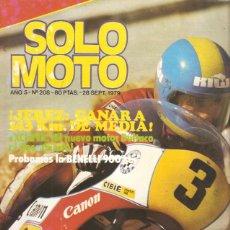 Coches y Motocicletas: REVISTA SOLO MOTO Nº 208 ENSAYO BENELLI 900 SEI CONTIENE POSTER . Lote 50323330