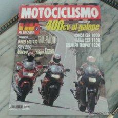 Coches y Motocicletas: MOTOCICLISMO JUN´92 TRIUMPH TROPHY, KAWASAKI ZZR 1100, HONDA CBR 1000, GILERA RC, YAMAHA SRV 250. Lote 50432977