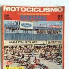 Coches y Motocicletas: REVISTA MOTOCICLISMO, SEGUNDA QUINCENA FEBRERO 1973, CON PÓSTER, VER SUMARIO.. Lote 50531257