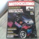 Coches y Motocicletas: MOTOCICLISMO OCT´90 KAWASAKI KLE 500, HONDA SHADOW 1100, SUZUKI RM 80, SUZUKI GSXR 750, HONDA CBR. Lote 50537172