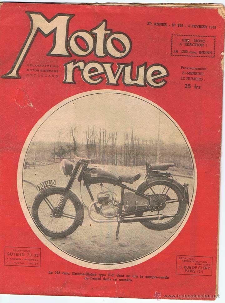 MOTO REVUE Nº 936 - 1949 (Coches y Motocicletas - Revistas de Motos y Motocicletas)