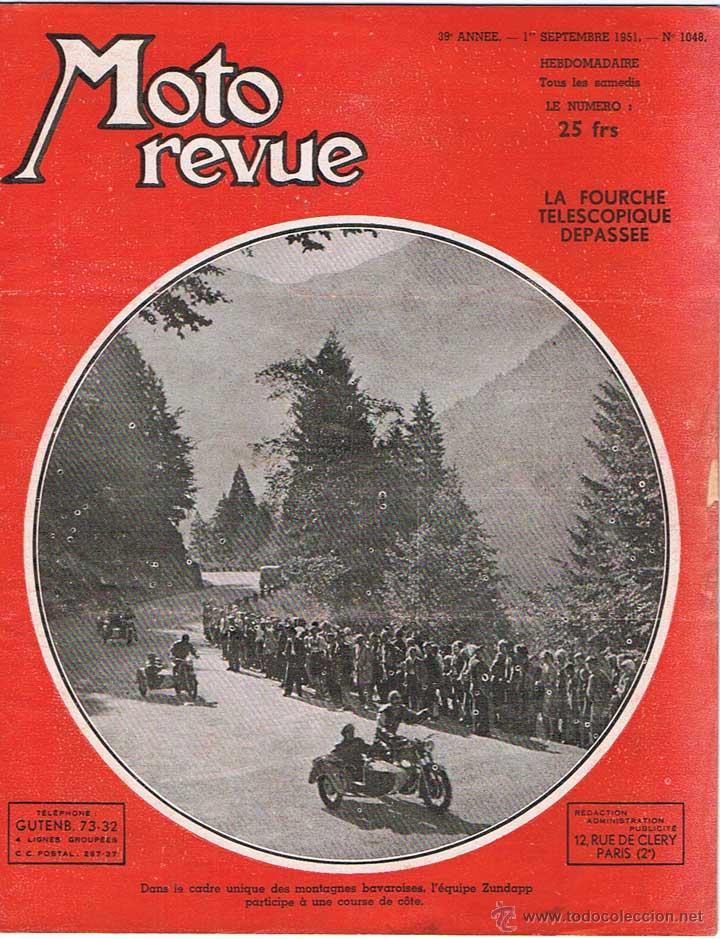 MOTO REVUE Nº 1048 - 1951 (Coches y Motocicletas - Revistas de Motos y Motocicletas)
