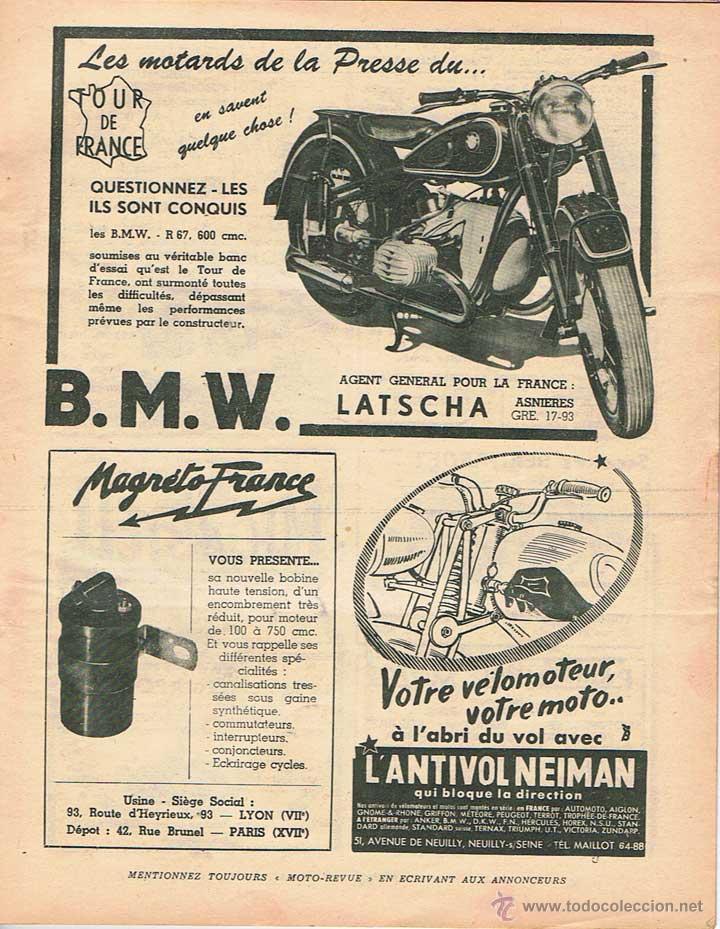 Coches y Motocicletas: MOTO REVUE Nº 1048 - 1951 - Foto 2 - 51075887