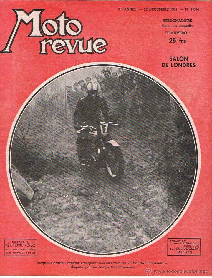 MOTO REVUE Nº 1064 - 1951 (Coches y Motocicletas - Revistas de Motos y Motocicletas)