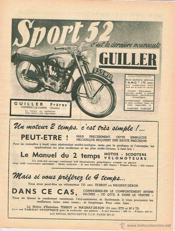 Coches y Motocicletas: MOTO REVUE Nº 1064 - 1951 - Foto 2 - 51076322
