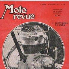 Coches y Motocicletas: MOTO REVUE Nº 1156 - 1953. Lote 51076839