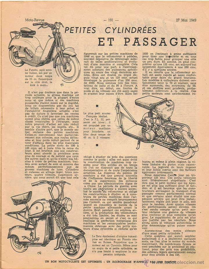 Coches y Motocicletas: MOTO REVUE Nº 946 - 1949 - Foto 2 - 51076873