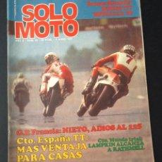 Coches y Motocicletas: REVISTA SOLO MOTO Nº 92 DE 1977 BULTACO SHERPA T77 Y BULTACO METRALLA GT. Lote 51153945