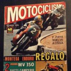 Coches y Motocicletas: REVISTA MOTOCICLISMO Nº 445 DE 1976 MV 350 GUZZI CAMPERO COTA 348. Lote 51162995