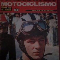 Coches y Motocicletas: MOTOCICLISMO FEBRERO 1970. CON POSTER BENJAMIN GRAU-DERBI. PRUEBA OSSA 250 SPORT. ZANELLA. Lote 51715848