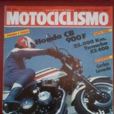 Coches y Motocicletas: MOTOCICLISMO 808 9 JULIO 1983 HONDA CB 900 F YAMAHA XS 400 60 AÑOS BMW RIEJU STRADA 49. Lote 63036827