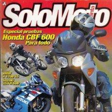 Coches y Motocicletas: REVISTA SOLO MOTO TREINTA Nº 253 AÑO 2004. PRUEBA: BMW F 650 GS. SUZUKI GSX R 600. BMW R 1200 GS. . Lote 51975934