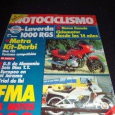 Coches y Motocicletas: REVISTA MOTOCICLISMO - NUMERO 770 - 1982 - 2 OCTUBRE - TDKR46. Lote 53053212