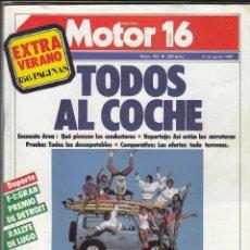 Coches y Motocicletas: REVISTA MOTOR 16 Nº 192 AÑO 1987. PRUEBA: RENAULT 21 TURBO.COMPARATIVA: DESCAPOTABLES. TODO TERRENO.. Lote 53118777