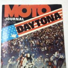 Coches y Motocicletas: REVISTA MOTO JOURNAL NUMERO 60, 16 MARZO 1972, DAYTONA, BULTACO 325, INCLUYE POSTER.. Lote 53411629