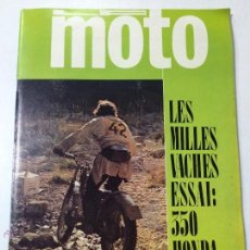 Coches y Motocicletas: REVISTA LA MOTO, NUMERO 22, FEBRERO 1972, INCLUYE POSTER DOBLE, HONDA CB 350, BULTACO MATADOR.. Lote 53462575