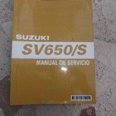 Coches y Motocicletas: MANUAL SUZUKI SV 650/S,EN CASTELLANO, 2003,494 PAGINAS. Lote 53463348