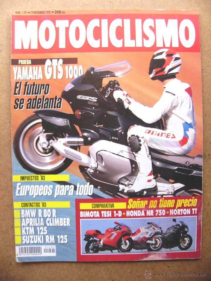 Motociclismo nº 1291 yamaha gts 1000 bimota tes - Sold