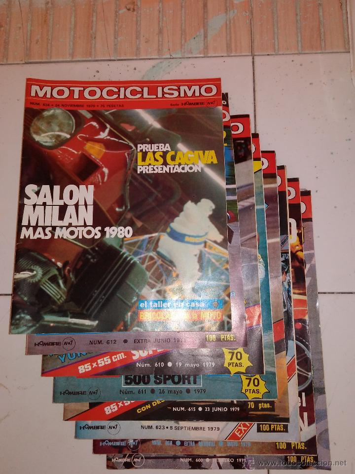LOTE DE 8 REVISTAS MOTOCICLISMO 1979. (Coches y Motocicletas - Revistas de Motos y Motocicletas)