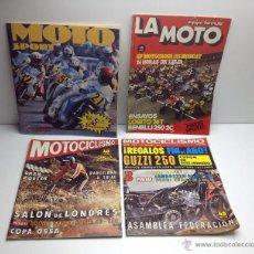 Coches y Motocicletas: LOTE DE REVISTAS Y ALBUM DE CROMOS DE MOTOS ,LA MOTO,MOTOCICLISMO. Lote 54184080