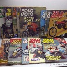 Coches y Motocicletas: GRAN LOTE REVISTA SOLO MOTO PRIMERA EPOCA MUY BUEN ESTADO. Lote 54212291
