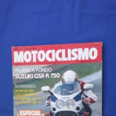 Coches y Motocicletas: MOTOCICLISMO MARZO 90 SUZUKI GSX R 750 - ALFER GR - GAS GAS - HUSQVARNA 510 - HONDA NSR - HARLEY. Lote 54248209